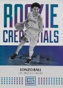 2017-18 Panini Status Rookie Credentials #5 Lonzo Ball NM-MT