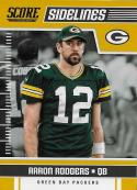 2018 Score Sidelines Gold #14 Aaron Rodgers NM-MT