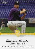 2013 Leaf Perfect Game Yellow #226 Carson Sands NM-MT