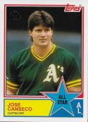2018 Topps 1983 Topps All-Stars #83AS-59 Jose Canseco NM-MT Athletics