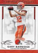 2016 Panini National Treasures Jersey Number Red #25 Gary Barnidge NM-MT 42/82 Browns