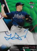 2018 Finest Autographs Refractors Green Wave #FA-LSI Lucas Sims NM-MT Auto 84/99 Braves