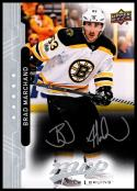 2018-19 Upper Deck MVP Silver Script #3 Brad Marchand NM-MT Boston Bruins Official NHL Hockey Trading Card