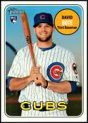 2018 Topps Heritage High Number Baseball #540 David Bote RC Rookie Chicago Cubs  Official MLB Trading Card