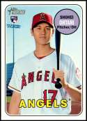 2018 Topps Heritage High Number Baseball #600 Shohei Ohtani RC Rookie Los Angeles Angels  Official MLB Trading Card