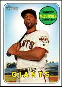 2018 Topps Heritage High Number Baseball #705 Andrew McCutchen SP San Francisco Giants  Official MLB Trading Card