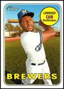 2018 Topps Heritage High Number Baseball #706 Lorenzo Cain SP Milwaukee Brewers  Official MLB Trading Card