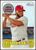 2018 Topps Heritage High Number Baseball #711 Carlos Santana SP Philadelphia Phillies  Official MLB Trading Card