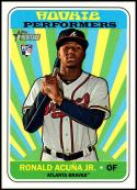 2018 Topps Heritage High Number Rookie Performers #RP-RA Ronald Acuna Jr. NM-MT Atlanta Braves