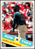 2018 Topps Heritage High Number Now and Then #NT-14 Ronald Acuna Jr. NM-MT Atlanta Braves Official MLB Trading Card
