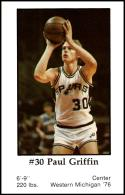 1979-80 Handy Dan San Antonio Spurs #NNO Paul Griffin NM-MT
