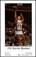 1979-80 Handy Dan San Antonio Spurs #NNO Kevin Restani NM-MT
