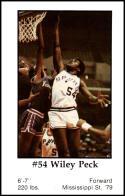 1979-80 Handy Dan San Antonio Spurs #NNO Wiley Peck NM-MT