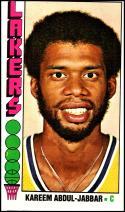 1976-77 Topps #100 Kareem Abdul-Jabbar NM Near Mint Los Angeles Lakers Official NBA Basketball Card