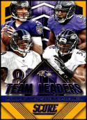 2015 Panini Score Team Leaders Gold #11 Joe Flacco/Justin Forsett/Elvis Dumervil/Steve Smith Sr. NM-MT Baltimore Ravens