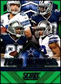 2015 Panini Score Team Leaders Green #5 Dez Bryant/Jeremy Mincey/DeMarco Murray/Tony Romo NM-MT Dallas Cowboys