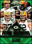 2015 Panini Score Team Leaders Green #13 Aaron Rodgers/Clay Matthews/Eddie Lacy/Jordy Nelson NM-MT Green Bay Packers