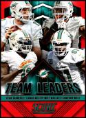 2015 Panini Score Team Leaders Red #3 Cameron Wake/Ryan Tannehill/Lamar Miller/Mike Wallace NM-MT Miami Dolphins