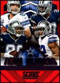 2015 Panini Score Team Leaders Red #5 Jeremy Mincey/DeMarco Murray/Dez Bryant/Tony Romo NM-MT Dallas Cowboys
