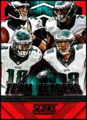 2015 Panini Score Team Leaders Red #6 Connor Barwin/Jeremy Maclin/Mark Sanchez/LeSean McCoy NM-MT Philadelphia Eagles