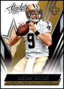 2014 Panini Absolute Retail #51 Drew Brees NM-MT New Orleans Saints Official NFL Trading Card