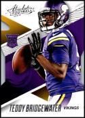 2014 Panini Absolute Retail #148 Teddy Bridgewater NM-MT RC Minnesota Vikings Official NFL Trading Card