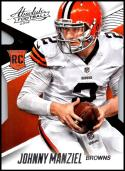 2014 Panini Absolute Retail #150 Johnny Manziel NM-MT RC Cleveland Browns Official NFL Trading Card