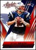2014 Panini Absolute Retail Red #44 Tom Brady NM-MT New England Patriots Official NFL Football Card