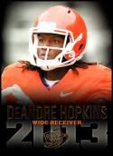 2013 Press Pass Gold #18 DeAndre Hopkins NM-MT Clemson Tigers