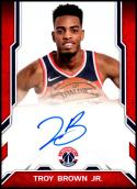 2018-19 Donruss Next Day Autographs #24 Troy Brown Jr. NM-MT Washington Wizards Official NBA Basketball Card