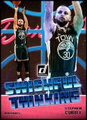 2018-19 Donruss Swishful Thinking #9 Stephen Curry NM-MT Golden State Warriors Official NBA Basketball Card