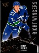 2018-19 Upper Deck Shooting Stars Right Wingers #SSR-4 Brock Boeser NM-MT Vancouver Canucks