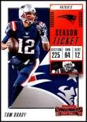 2018 Panini Contenders Season Tickets #36 Tom Brady NM-MT New England Patriots  Official NFL Football Card