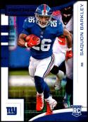 2018 Panini Rookies and Stars Purple #102 Saquon Barkley Rookie NM-MT New York Giants Official NFL Football Card
