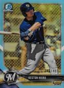 2018 Bowman Draft Chrome Refractors Sky Blue #BDC-49 Keston Hiura NM-MT 247/402 Milwaukee Brewers Official MLB Card