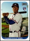 2018 Topps Archives Snapshots #AS-RAC Ronald Acuna Jr. NM-MT RC Atlanta Braves Official MLB Baseball Card