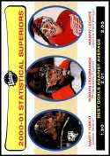2001-02 Upper Deck Vintage #268 Marty Turco/Manny Legace/Roman Cechmanek NM-MT  Official NHL Hockey Card