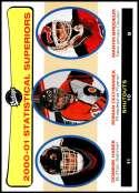 2001-02 Upper Deck Vintage #270 Martin Brodeur/Roman Cechmanek/Dominik Hasek NM-MT Official NHL Hockey Card