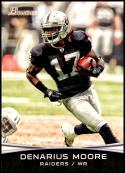 2012 Bowman Signatures #34 Denarius Moore NM-MT Oakland Raiders Official NFL Football Card