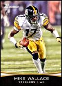 2012 Bowman Signatures #36 Mike Wallace NM-MT Pittsburgh Steelers Official NFL Football Card