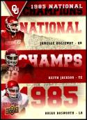 2011 Upper Deck University of Oklahoma National Champions Trios #NCT-HJB Jamelle Holieway/Keith Jackson/Brian Bosworth Oklahoma Sooners