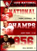 2011 Upper Deck University of Oklahoma National Champions Trios #NCT-MTK Tommy McDonald/Jerry Tubbs/Bill Krisher