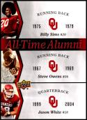 2011 Upper Deck University of Oklahoma All-Time Alumni Trios #ATAT-SOW Billy Sims/Steve Owens/Jason White Oklahoma Sooners