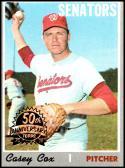 2019 Topps Heritage 1970 Topps Originals Buy Backs #281 Casey Cox NM-MT Washington Senators