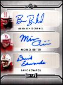2019 Leaf Draft Triple Autograph #TA-01 Beau Benzschawel/Michael Deiter/David Edwards NM-MT