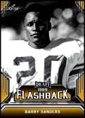 2019 Leaf Draft Flashback Gold #1 Barry Sanders NM-MT  Collegiate Football Trading Card