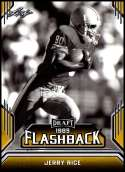 2019 Leaf Draft Flashback Gold #7 Jerry Rice NM-MT  Collegiate Football Trading Card