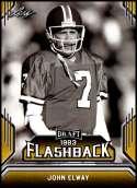 2019 Leaf Draft Flashback Gold #8 John Elway NM-MT  Collegiate Football Trading Card