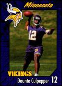 1999 Burger King Minnesota Vikings #26 Daunte Culpepper NM-MT Minnesota Vikings