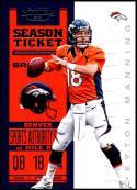 2012 Playoff Contenders Season Ticket #29 Peyton Manning NM-MT Denver Broncos